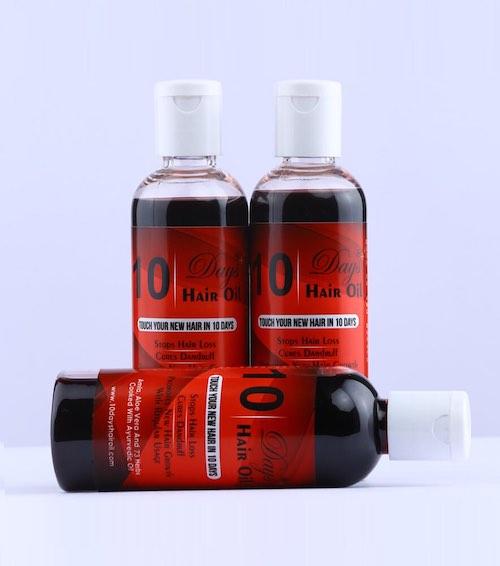 Best Ayurvedic Hair Oil In India - '10 Days' Hair Oil